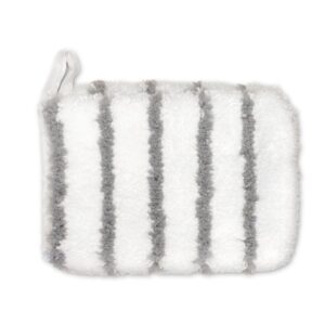 Microfibre grey striped Mitt